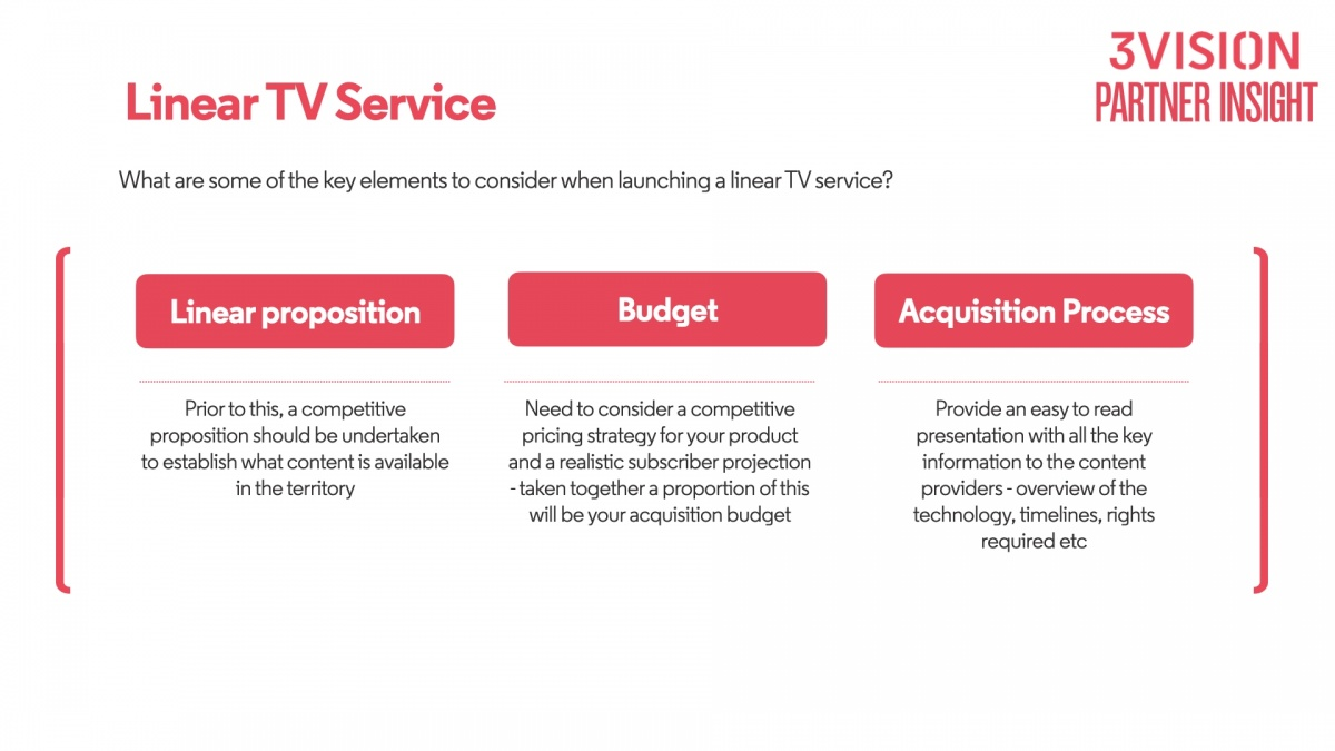 Linear TV service top tips